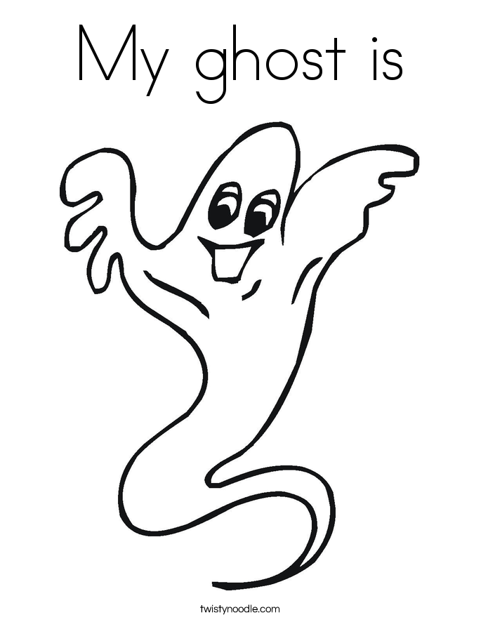 My ghost is Coloring Page