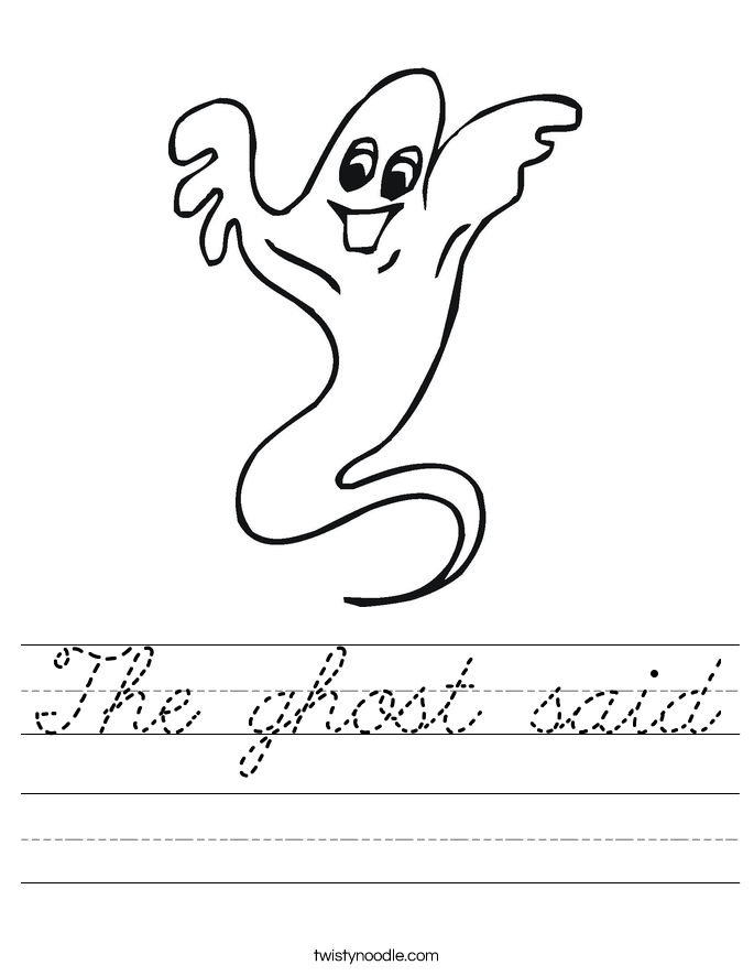 The ghost said Worksheet