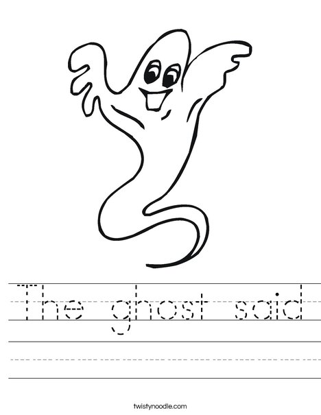 Ghost Worksheet