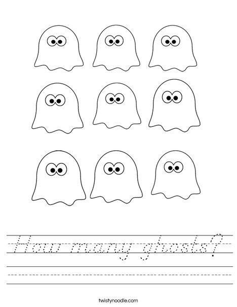Ghosts Worksheet