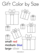 Gift Color by Size Coloring Page