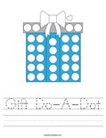 Gift Do-A-Dot Worksheet