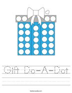 Gift Do-A-Dot Handwriting Sheet