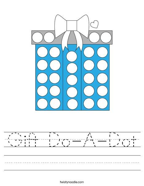 Gift Do-A-Dot Worksheet