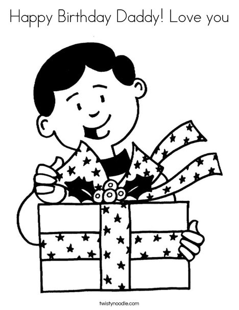 love birthday coloring pages - photo#20