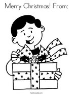 Merry Christmas From: Coloring Page