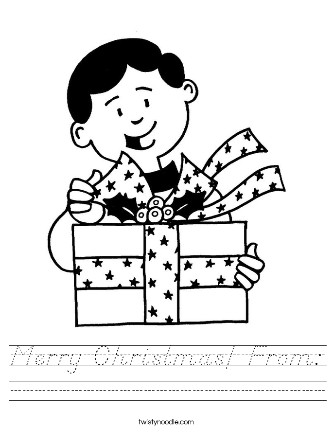 Merry Christmas! From: Worksheet