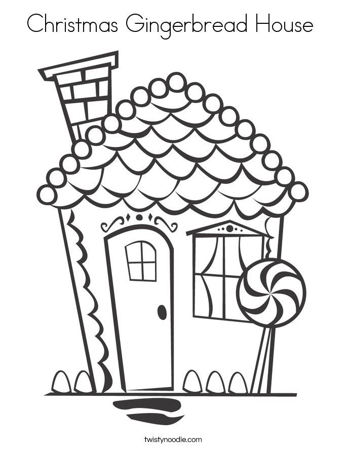 gingerbread house coloring page - christmas gingerbread house coloring page twisty noodle