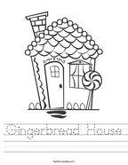 Gingerbread House Handwriting Sheet