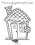 This is a gingerbread house.Coloring Page