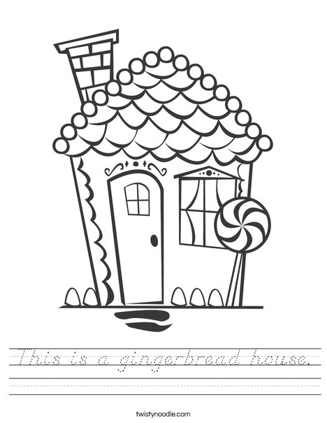 Gingerbread House Worksheet