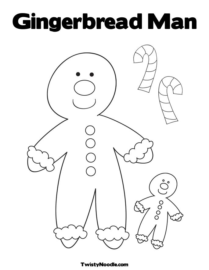 Free Coloring Pages Of The Gingerbread Man