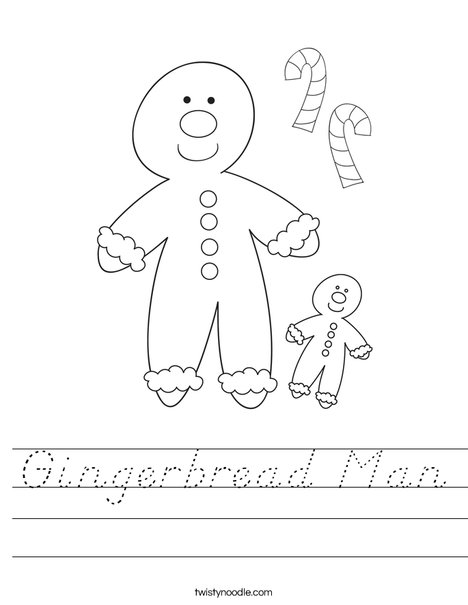 Gingerbread Man Worksheet