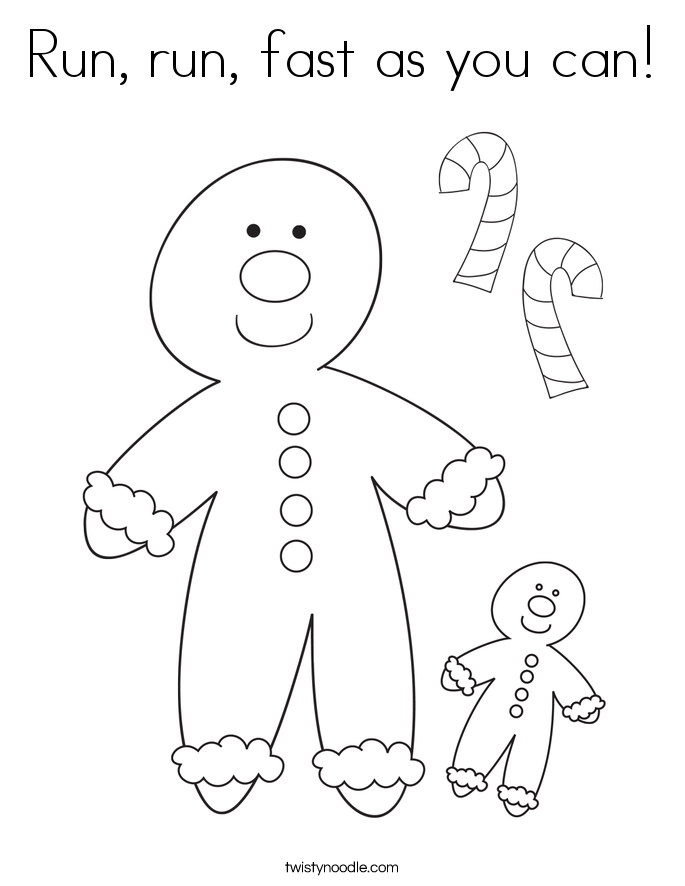 Run, run, fast as you can! Coloring Page