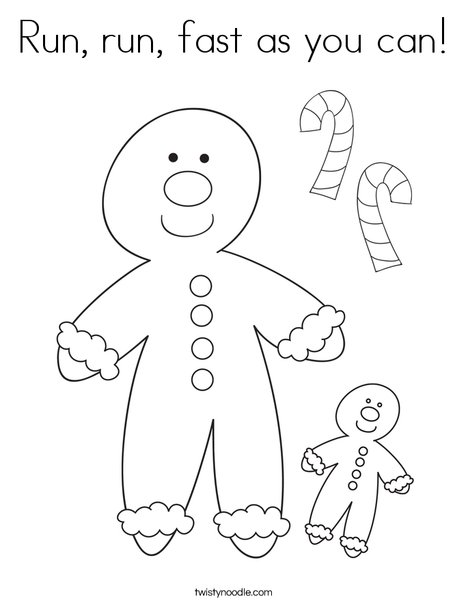 Run, run, fast as you can Coloring Page - Twisty Noodle