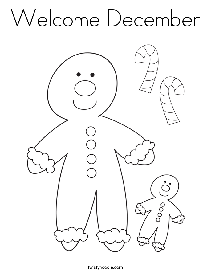 Welcome december coloring page twisty noodle for December coloring pages