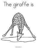 The giraffe is Coloring Page