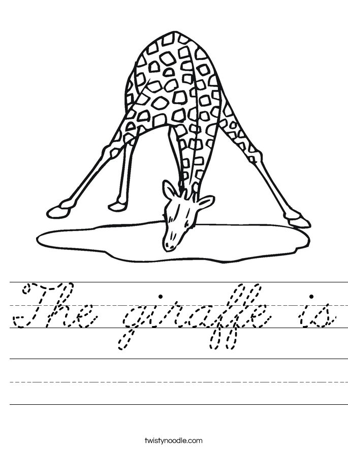 The giraffe is Worksheet