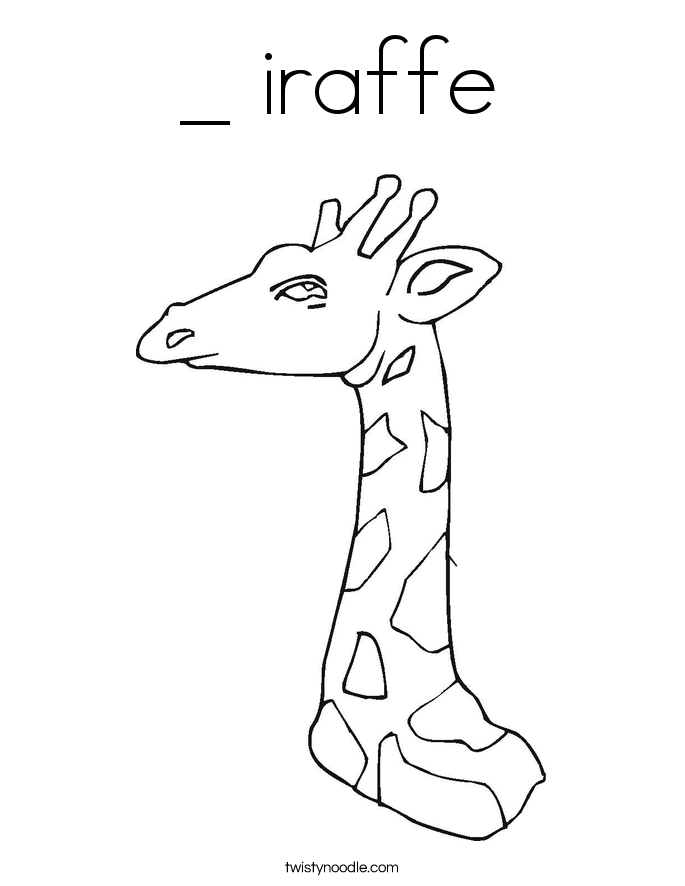 _ iraffe Coloring Page