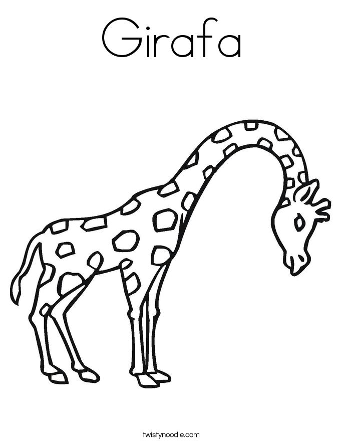 Girafa Coloring Page