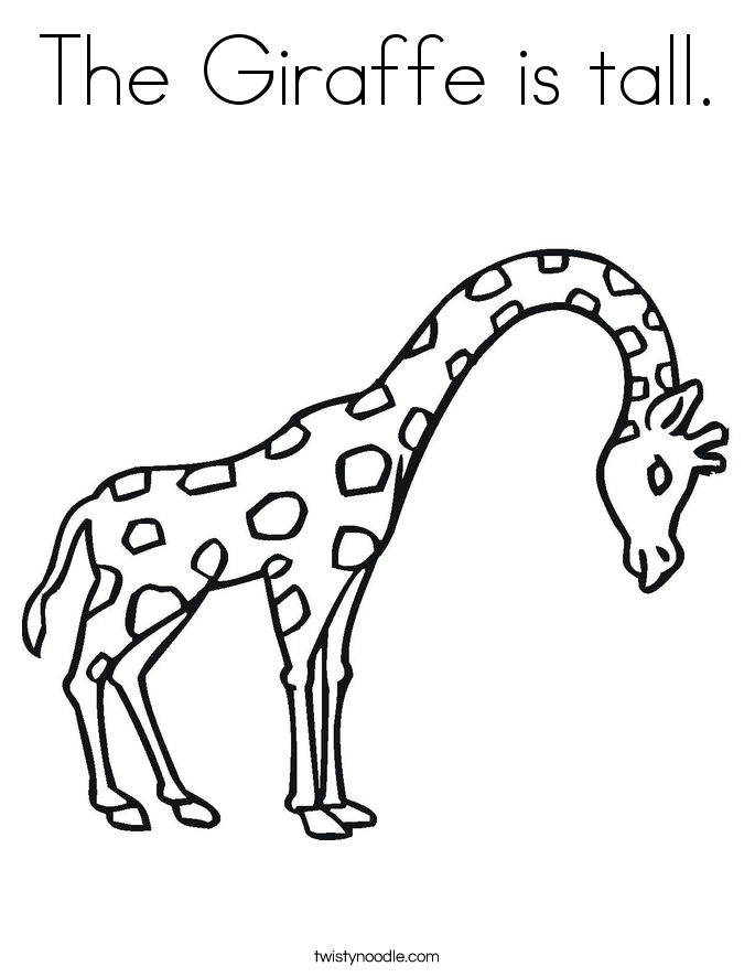 Giraffe Without Spots Page Coloring Pages