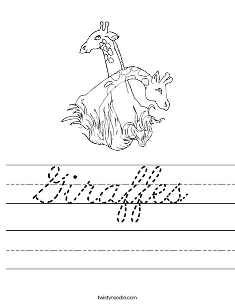 Giraffes Worksheet