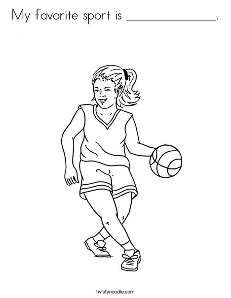 Girl Basketball Player Coloring Page