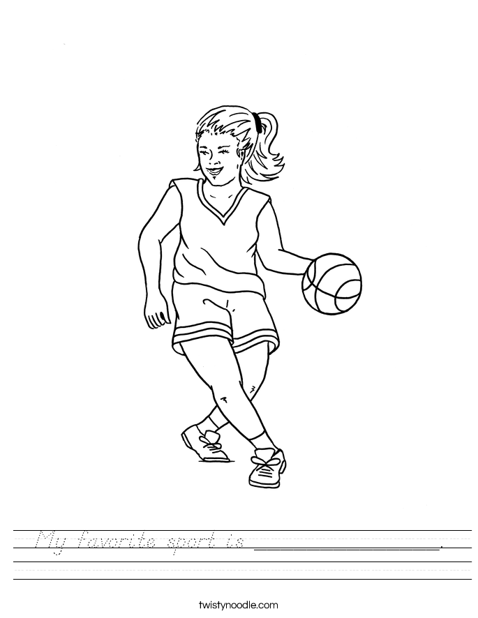 My favorite sport is ______________. Worksheet