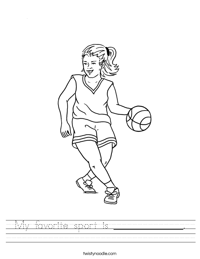 My favorite sport is ______________. Worksheet