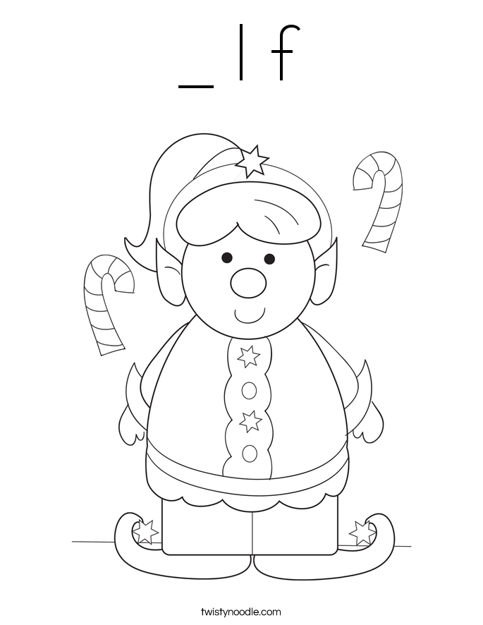 _ l f Coloring Page