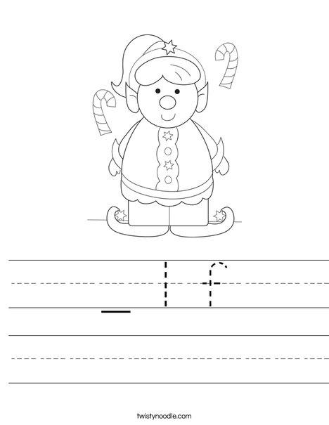 Girl Elf Worksheet