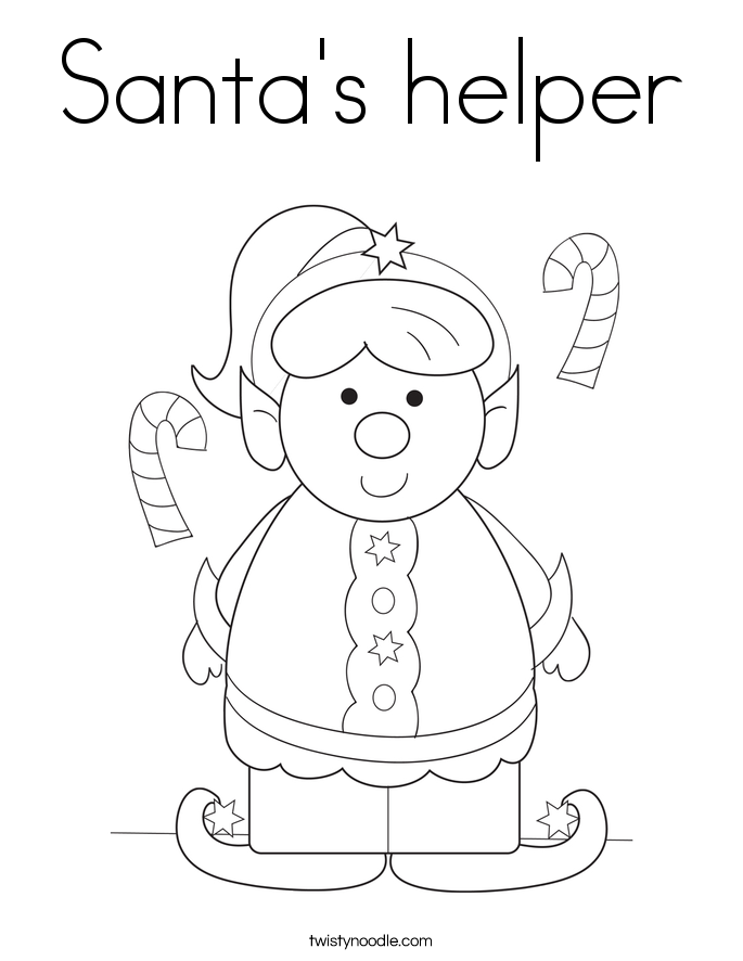 Santa's helper Coloring Page