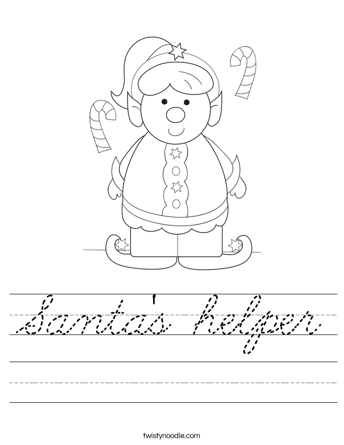 Santa's helper Worksheet