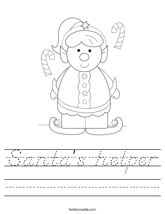 Santa's helper Worksheet