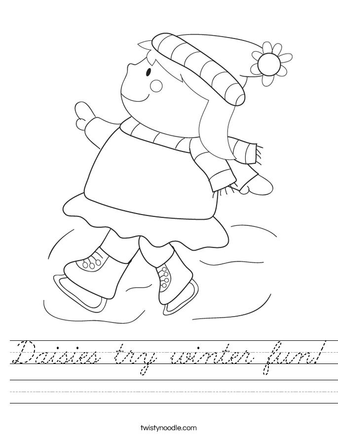 Daisies try winter fun! Worksheet