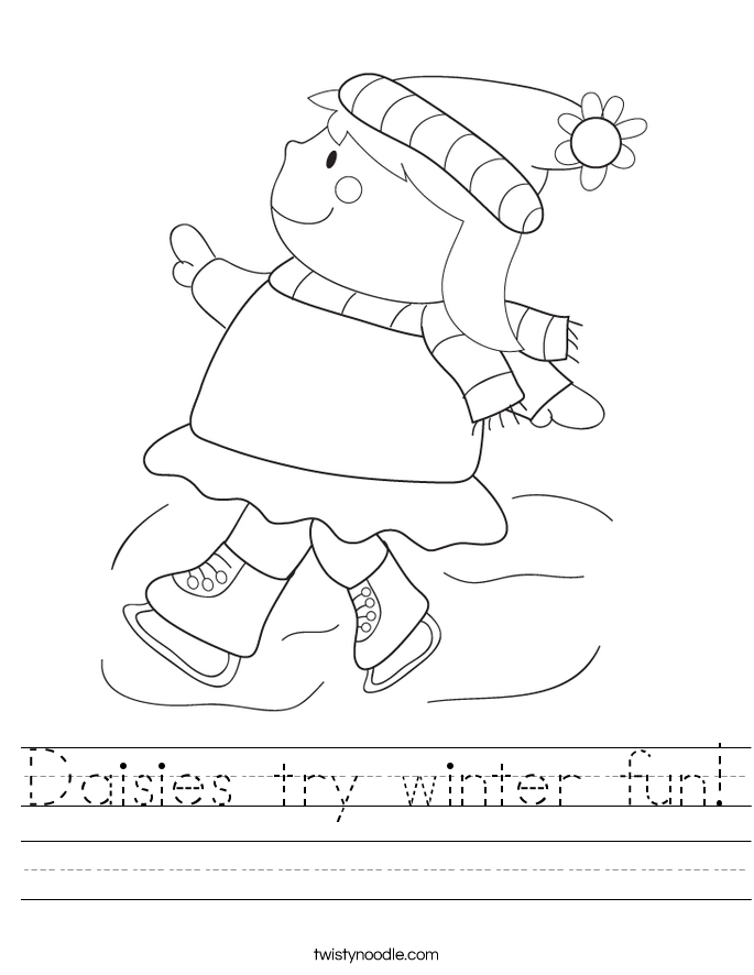 Daisies try winter fun! Worksheet