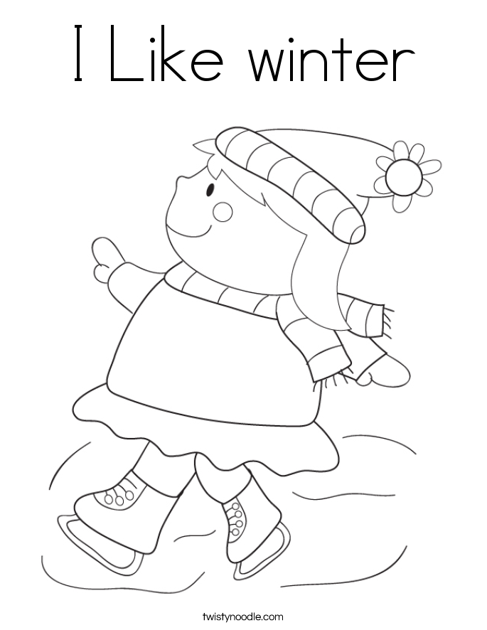 I Like winter Coloring Page