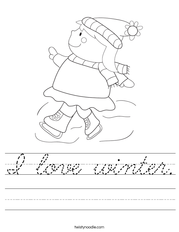 I love winter. Worksheet