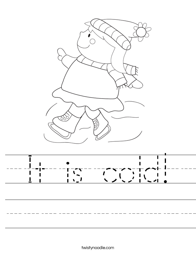 It is cold! Worksheet