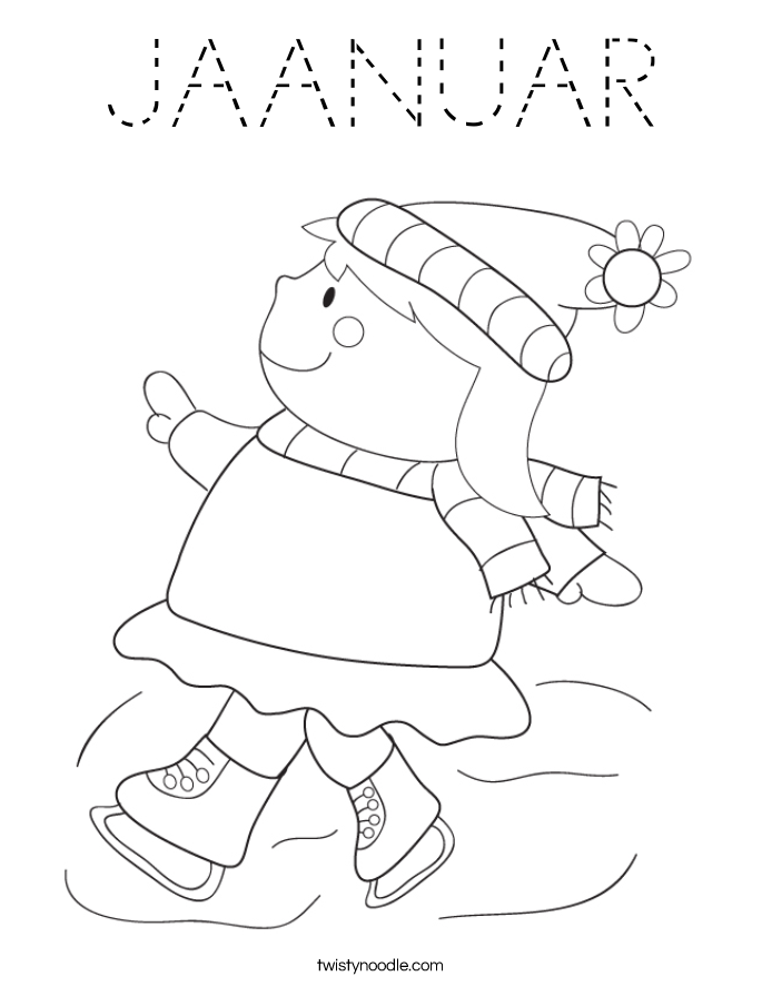 JAANUAR Coloring Page