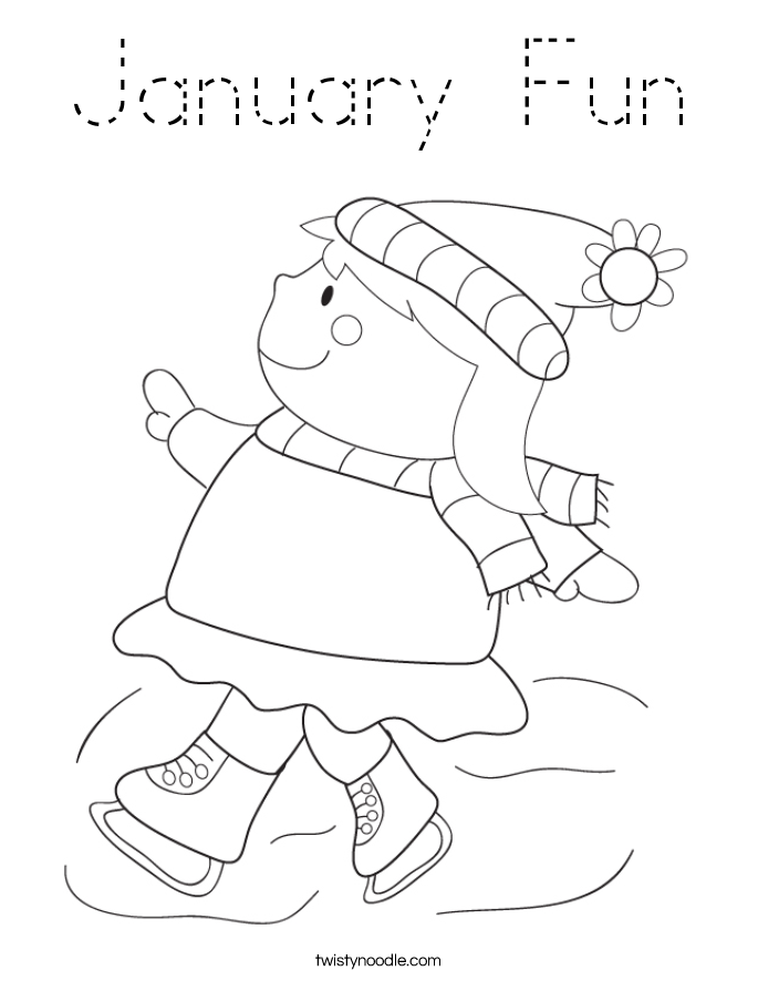 January Fun Coloring Page