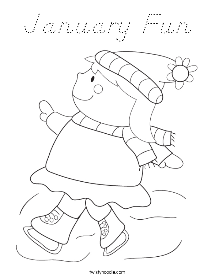 January Fun Coloring Page