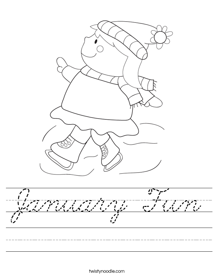 January Fun Worksheet