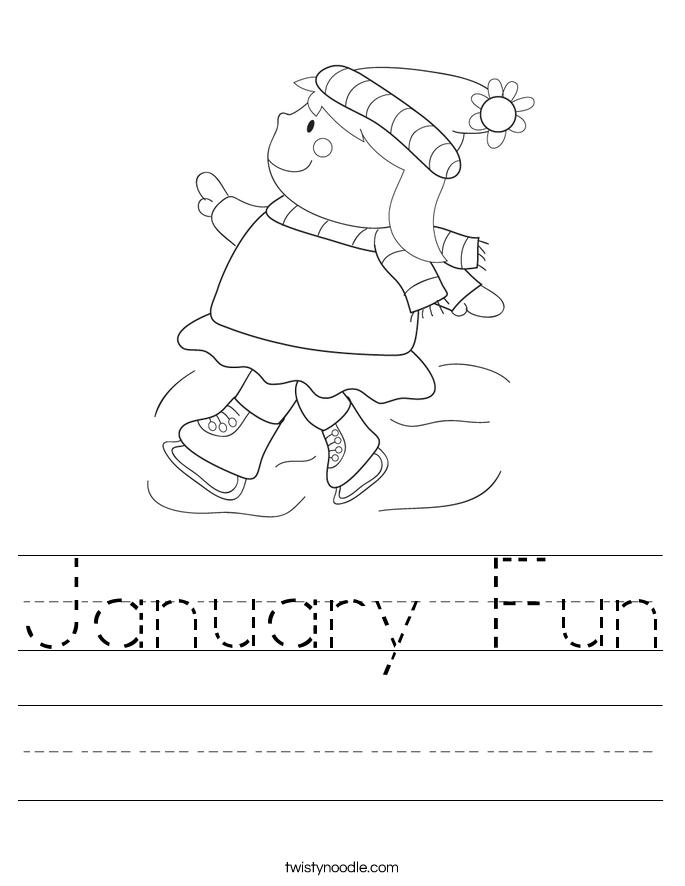 January Fun Worksheet