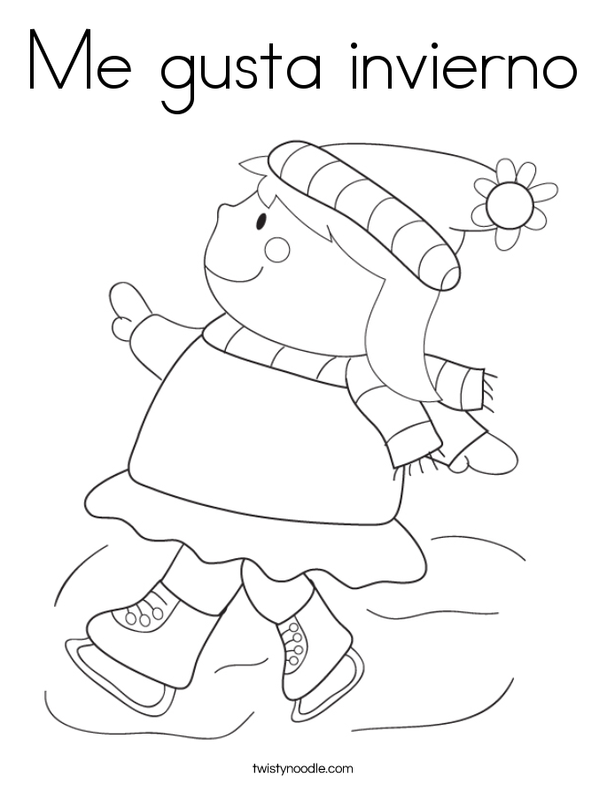 Me gusta invierno Coloring Page
