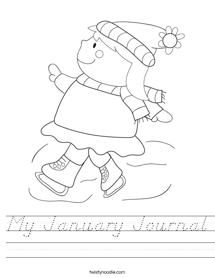 My January Journal Worksheet