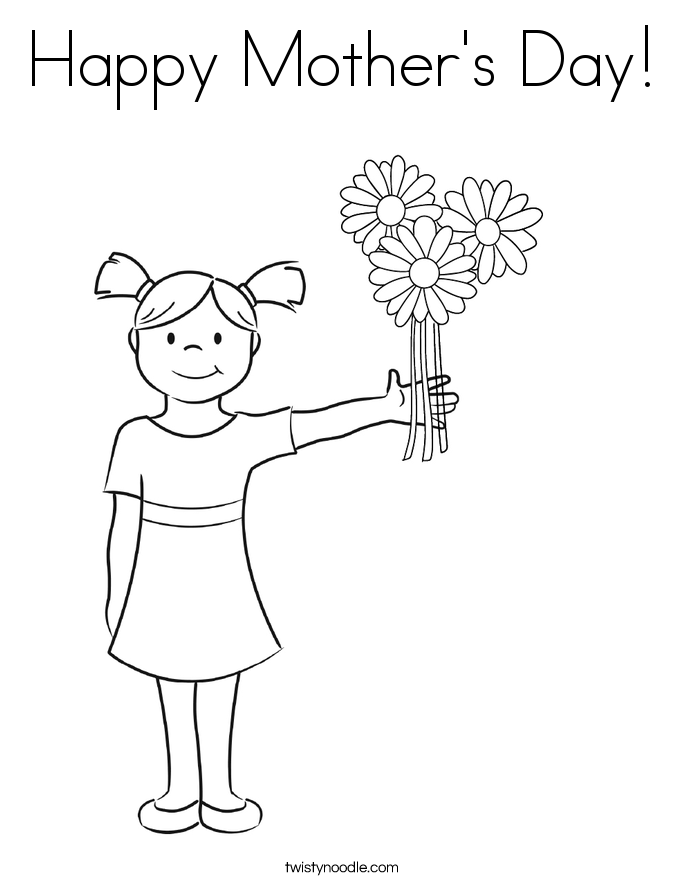 Happy Mother's Day! Coloring Page