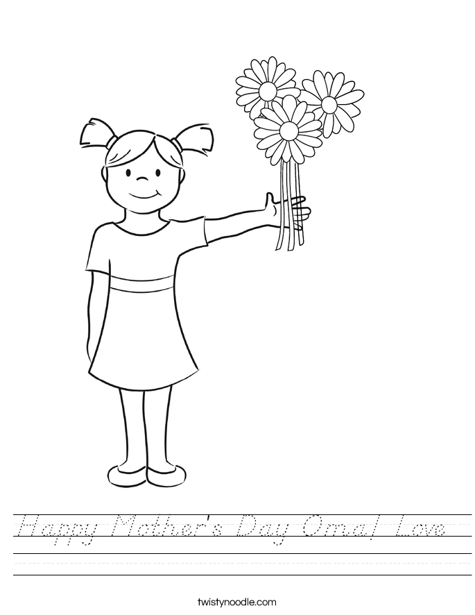 Happy Mother's Day Oma! Love  Worksheet