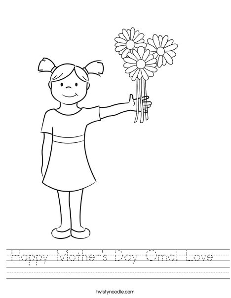 Girl on Heart Worksheet