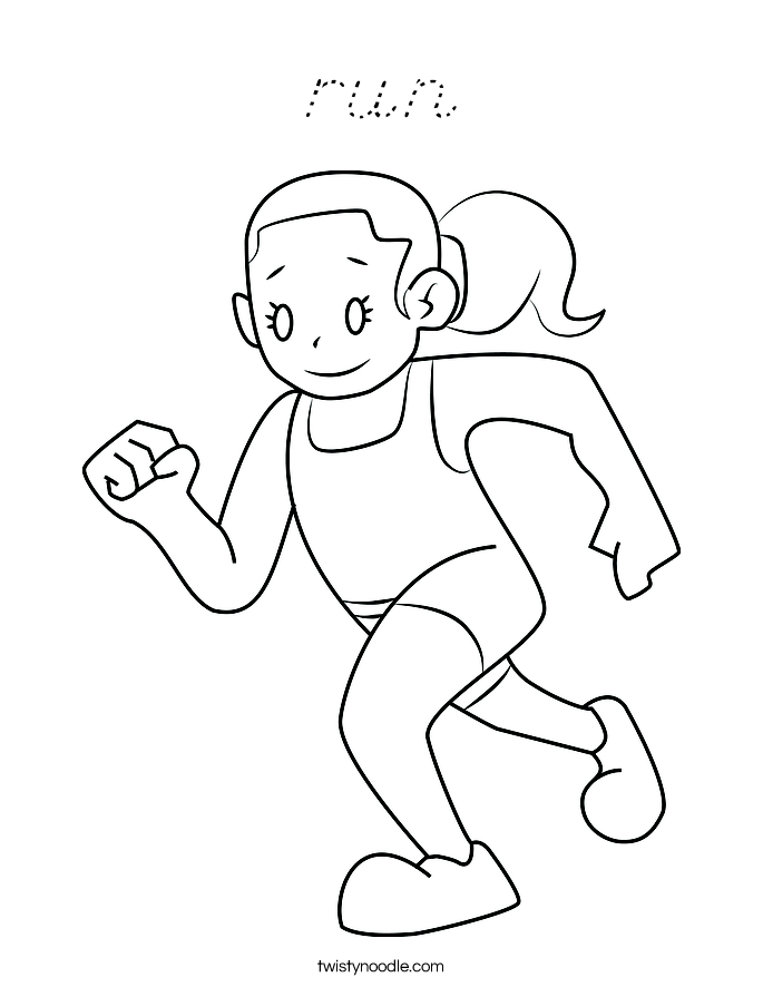 run Coloring Page
